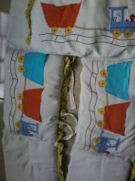 Ninho /protetor de berço /Roupas e sapatinhos de bebe menino