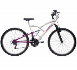 Mountain Bike Mormaii Fantasy Full - Aro 26 - Freio V-Brake - 18M - Feminina