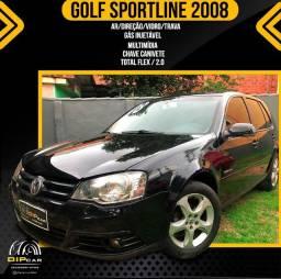 Golf 1.6 sportline completo 2008 couro