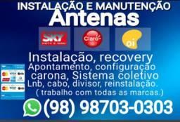 Técnico manutenção antenas