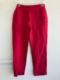 Calça social feminina vermelha tam 38