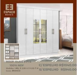 Título do anúncio: Guarda Roupas Ouro em MDF 6 Portas Sem espelho#Entrega e Montagem Grátis
