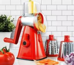 Título do anúncio: Ralador Cortador Fatiador de Legumes Verduras Frutas Queijos 3 em 1