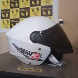 Título do anúncio: Capacetes + Viseira Fume Moto Aberto Pro Tork New Liberty 3