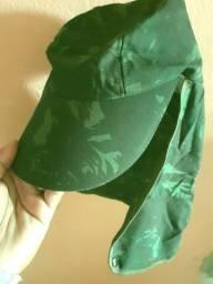 Título do anúncio: Boné Com Proteção De Pescoço E Orelha Cor Verde Camuflado