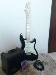 Kit Guitarra Strinberg sts-100 + amp steel 15