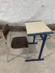 Cadeira e mesa escolar infantil 22 unidades