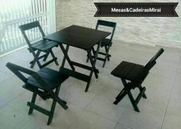 Título do anúncio: Conjunto de mesa madeira dobravel