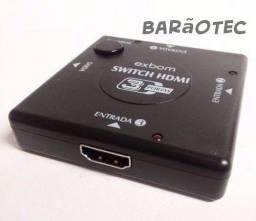 Título do anúncio: Adaptador Switch Hd - Hdmi Splitter - 3 Portas