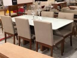 Título do anúncio: Mesa de jantar seis lugares nova completa pronta entrega