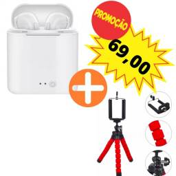 Título do anúncio: Fone de ouvido in-ear sem fio i7S TWS branco Bluetooth novo + triplé de brinde