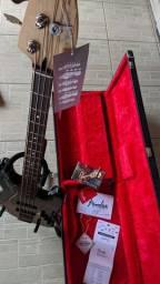 Fender Jazz Bass Deluxe + Case + Capa Original