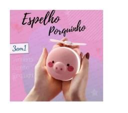 Título do anúncio: Ventiladores Porquinho Com Led e Espelho- b27