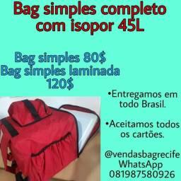 Título do anúncio: Bolsa bag motoboy com isopor 45Lz entregas todo Brasil