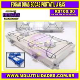 Fogão Duas Bocas Portátil a Gás