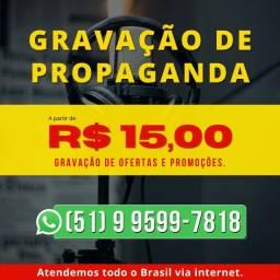 Título do anúncio: Gravação de Propaganda, Gravação de Vinhetas, Offs, Locutor, Locução