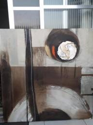 Quadro abstrato para decoração interna