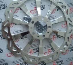 Disco Dianteiro Cromado 320mm Titan160 Cbs/ Bros