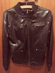 Jaqueta de couro sintético unissex