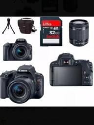 Camera Canon EOS Rebel SL2+ Lente 18- 55mm + brindes SEMINOVO