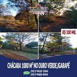 Chácara 1000 m² no Residencial Ouro Verde,Igarapé-MG