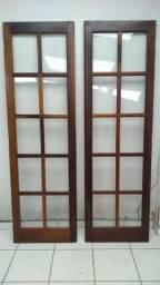 2 portas de vidro