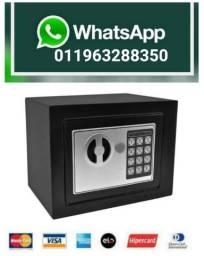 Cofre Eletrônico Teclado Com Senha + Chave Sos Modelo Osd170 (NOVO) Aceita Cartão