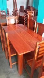 Mesas de macacauba novas com 6 cadeiras