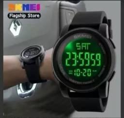 Relógio original skmei caixa grande à prova d'água