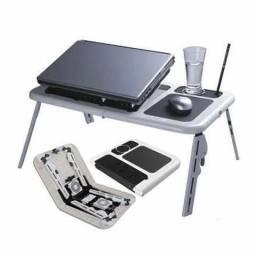 Mesa Notebook Com Cooler Dobr¨¢vel Suporte Base Mouse Copo