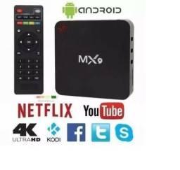 TV Box 4K - Sua TV Vira Smart (Instalação e Mouse Grátis)