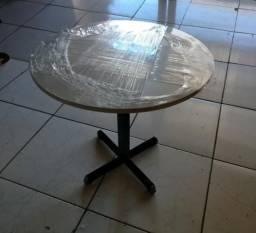 Mesa redonda branca em mdf, frete grátis