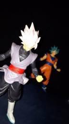 Bonecos Dragon Ball conjunto Goku Black e Goku bl