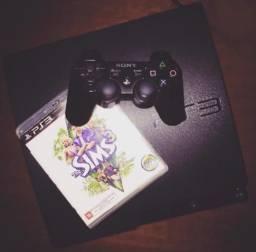 PlayStation 3 + 2 controles + 2 jogos
