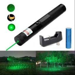 Super Caneta Laser Pointer Verde Longo Alcanse 18 Km