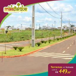 Terreno Entrada R$ 449,00 Mais Parque Cassilândia Direto c/ a Loteadora