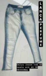 1 Calça jeans marca LANÇA PERFUME tam GG veste até N 46 original