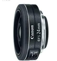 Lente canon EF-S 24mm fixa F/2.8 para câmera cropada