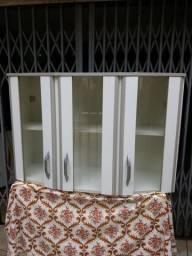 Armario Aéreo de parede tres portas vidro