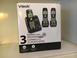 Telefone com secretária eletrônica e 3 aparelhos sem fio