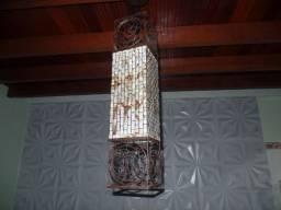 Lustre e Arandela artesanal feitos de ferro e filtro de café descartável
