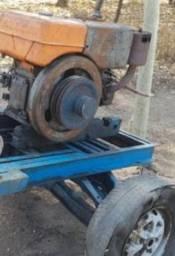 Motor diesel yanmar com carretinha aro 13