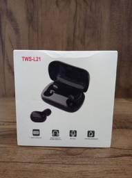 Fone de Ouvido TWS L21 Bluetooth 5 0 com Caixa de Carregamento