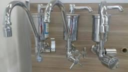 Purificador de água c/ torneira de parede