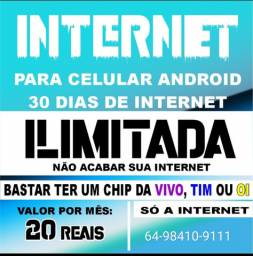 Internet 20 reais o mês Ilimitada