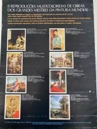 Título do anúncio: 8 REPRODUCÕES MULTICOLORIDAS DE OBRAS DOS GRANDES MESTRES DA PINTURA MUNDIAL
