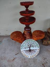 Fruteira de madeira