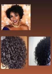 Título do anúncio: Lace, cabelo humano, curto, cacheado.