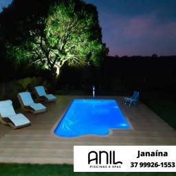 Título do anúncio: JA - Fábrica Anil Piscinas - piscina 7 metros em oferta - 7,00 x 3,20 x 1,40m***