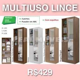 Armário multiuso lince multiuso lince com espelhos multiuso multiuso 010